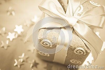 Sepia Christmas gift