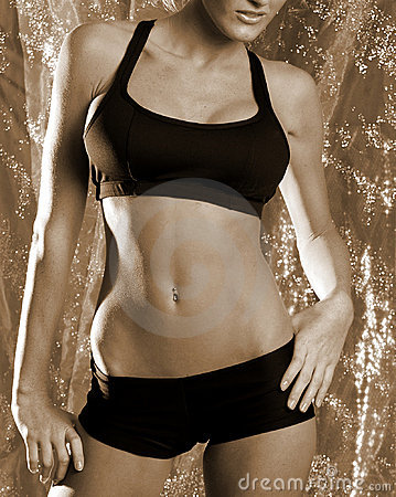 Free Sepia Fitness Girl 2 Royalty Free Stock Photography - 1253907