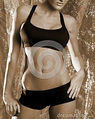 Sepia fitness girl 2