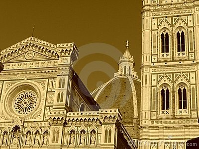 Sepia Florence - the cathedral