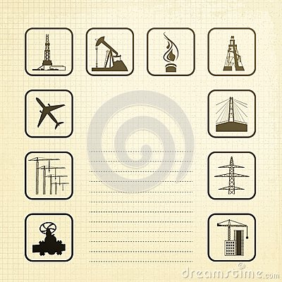 Sepia industry icons