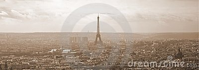 Sepia Paris Panorama