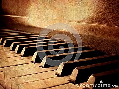 Sepia Piano Keys