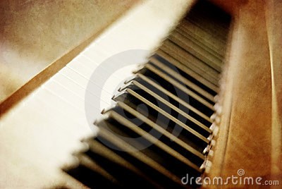 Sepia Piano Keys