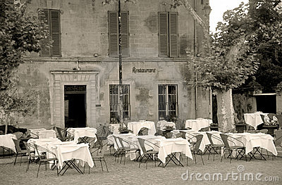 Sepia Restaurant Stock Photography - Image: 763072