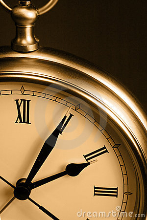 Free Sepia Time Clock Stock Photography - 2221092