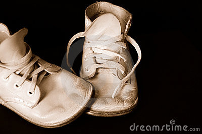 Sepia Vintage Baby Shoes