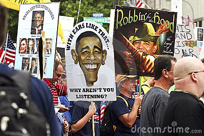 Sept 12, 2009:  Tea Party March on Washington D.C. Editorial Image