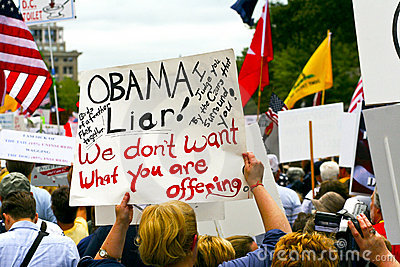 Sept 12, 2009:  Tea Party March on Washington D.C. Editorial Photo
