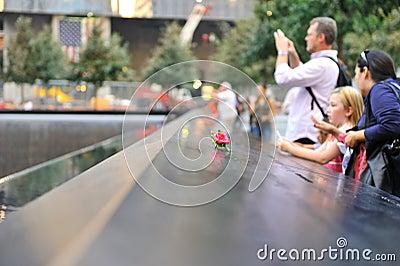 September 11 infinite pool memorial Editorial Photo