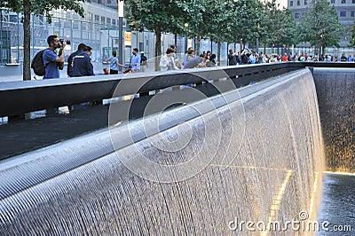 September 11 infinite pool memorial Editorial Photography