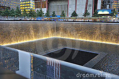 September 11 infinite pool memorial Editorial Stock Image