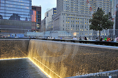 September 11 infinite pool memorial Editorial Photography