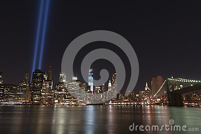 September 11 tribute lights