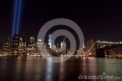 September 11 tribute lights