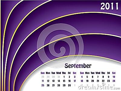 September 2011 wave calendar