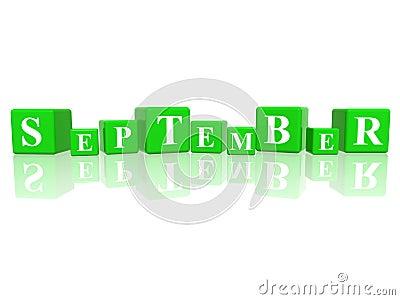 September in 3d cubes