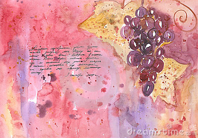 September Diary. Grapes.
