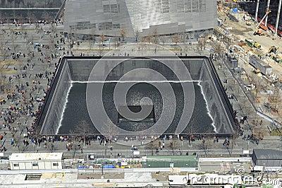 September 11 infinite pool memorial Editorial Stock Image
