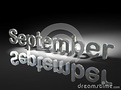 September in silver