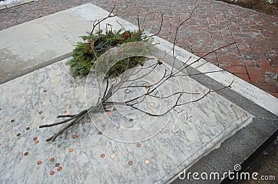 Sepultura de Benjamin Franklin, Philadelphfia Fotografia Editorial