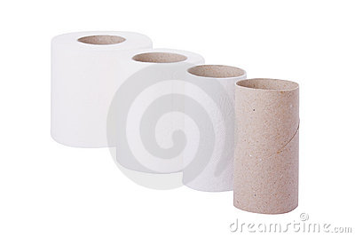 Sequence of toilet paper rolls