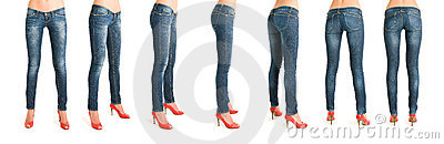 Sequence of woman legs