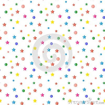 Sequins, confetti. Pattern. Cartoon Illustration