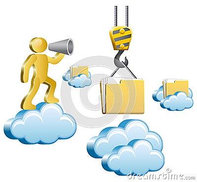 Ser humano e nuvens