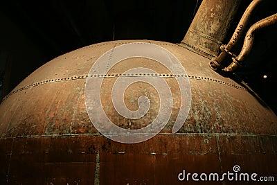 Serbatoio di rame della fabbrica di birra dell 39 annata for Serbatoio di acqua di rame
