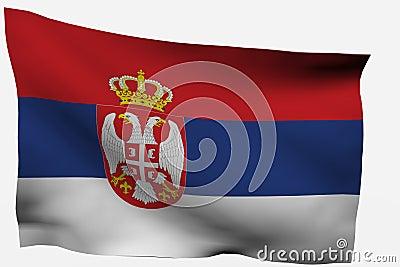 Serbian 3d flag