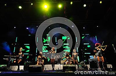 Serbian band  Editorial Photo