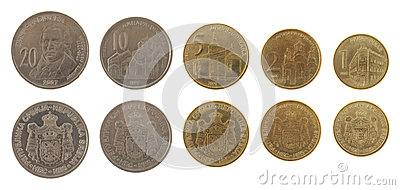 Serbian Coins Isolated on White