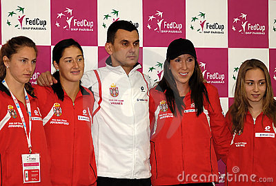 Serbian Fed Cup team Editorial Photography
