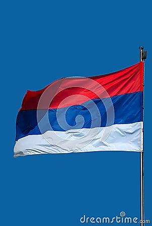 Free Serbian Flag-1 Stock Photo - 13963640