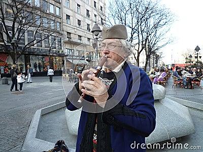 Serbian folk musician Editorial Image