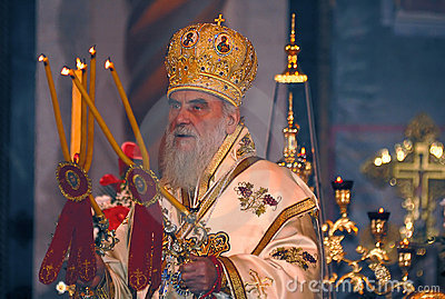 Serbian Patriarch IRINEJ-4 Editorial Stock Photo