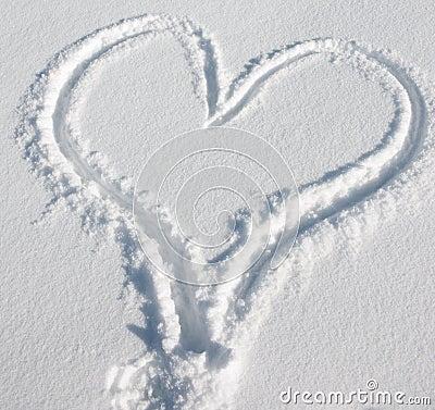 Serce śnieg