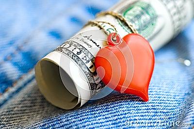 Serce pieniądze