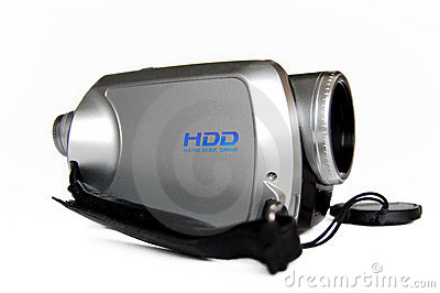 Serebristaya portable video camera.