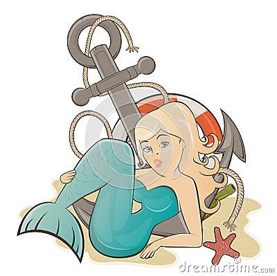 Sereia dos desenhos animados