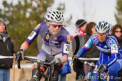 Serena Bishop - Pro Woman Cyclocross Racer Editorial Stock Image