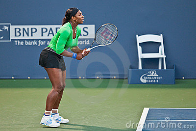Serena Williams, USA, plays in semifinal game Editorial Stock Image
