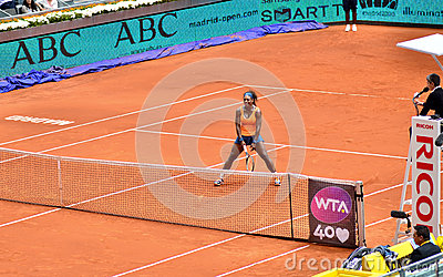 Serena Williams at the WTA Mutua Open Madrid Editorial Photography
