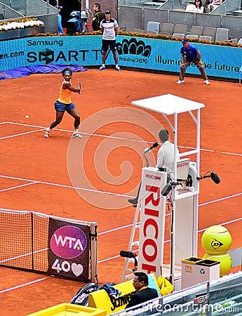Serena Williams at the WTA Mutua Open Madrid Editorial Photo