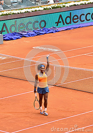 Serena Williams at the WTA Mutua Open Madrid Editorial Image