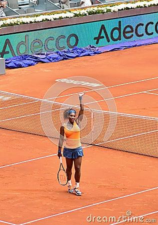 Serena Williams at the WTA Mutua Open Madrid Editorial Image
