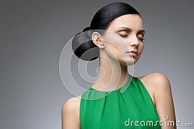 Serene brunette