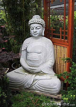 Serene Buddha in Bamboo Garden
