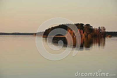 Serene lake in Sweden